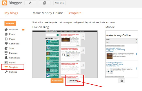 How to Redirect a Blogger Blog to Another Site