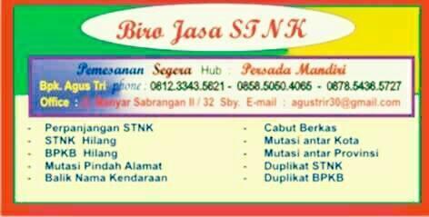 BIRO JASA STNK di Surabaya