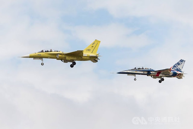 Taiwan's first series production Brave Eagle advanced trainer jet makes maiden flight