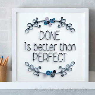 Quilling Phrases - Done Project