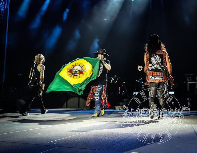 guns n roses duração show rock in rio setlist