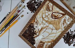 Pintando com café: Artista desenvolve técnica usando café como tinta