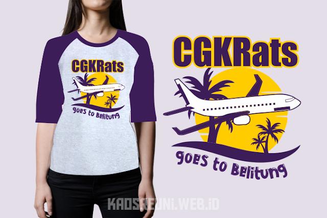 Sablon Kaos Gathering CGKRats goes to Belitung 2