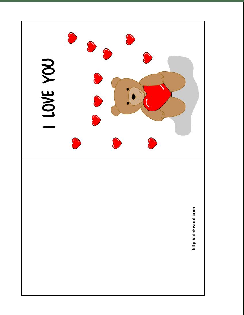 Wife Birthday Card Template printable valentine free printable – Free Birthday Cards Templates