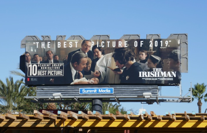 Irishman Best picture 2019 Oscar billboard