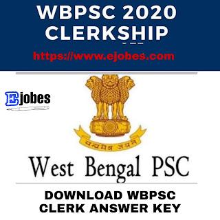 WBPSC Clerk Answer Key Pdf Download 2020