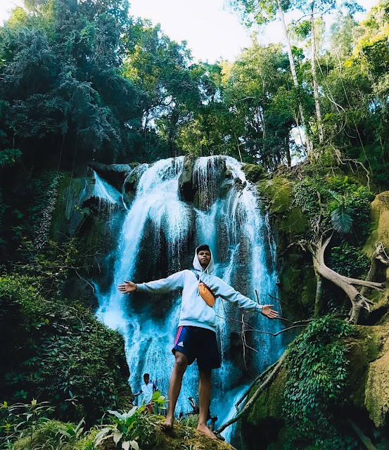 samparona waterfall Southeast Sulawesi Indonesia