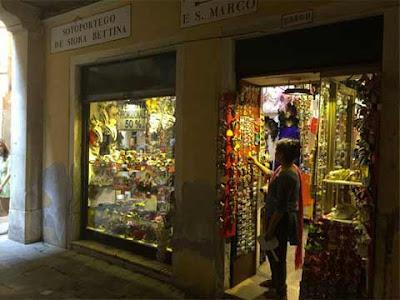 L'ex negozio di giocattoli in Sotoportego de Siora Bettina