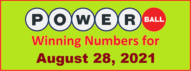 PowerBall Winning Numbers for Saturday, August 28, 2021