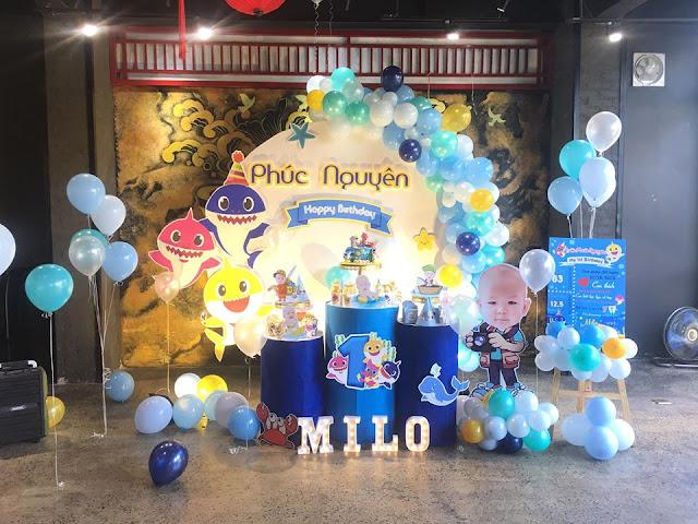 trang trí sinh nhật bé Phúc Nguyễn