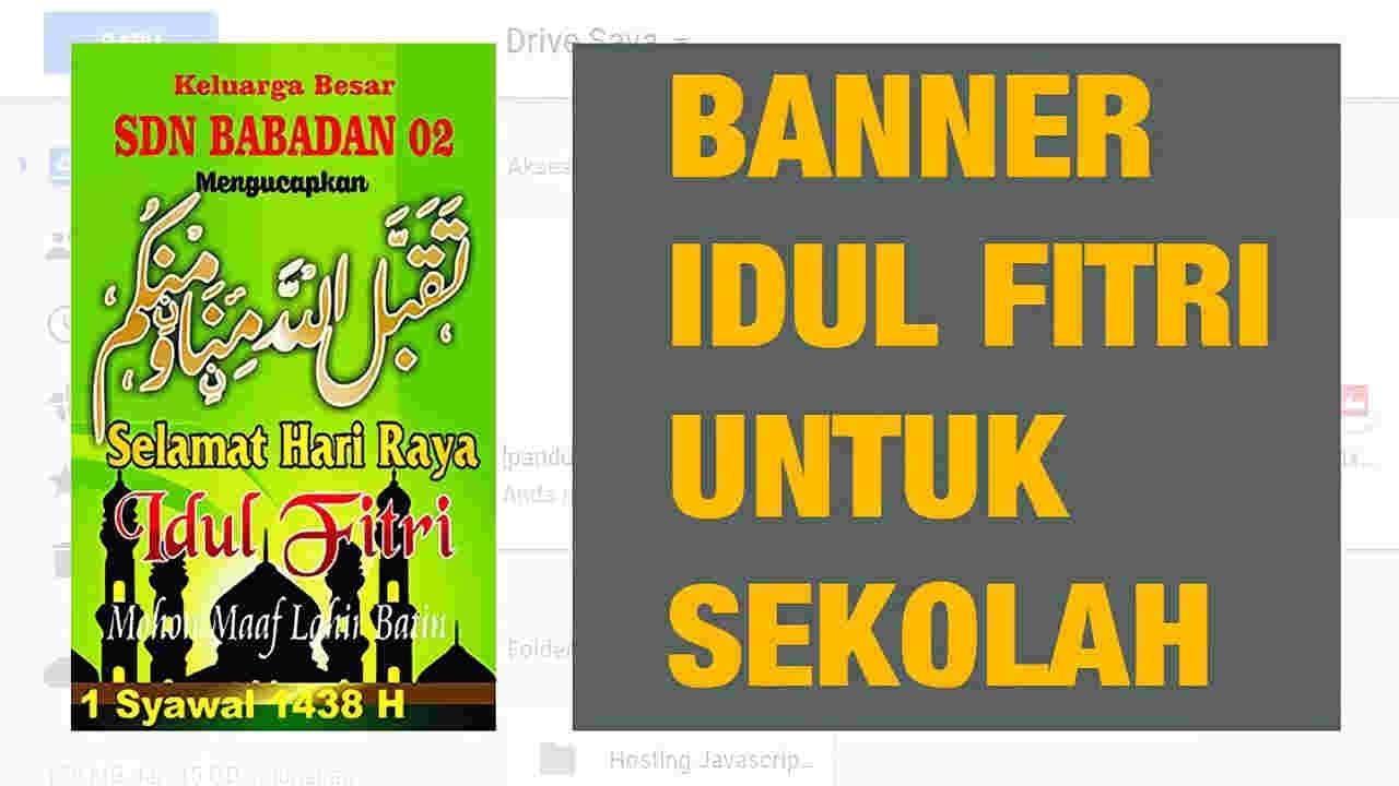 10 Banner Selamat Idul Fitri Untuk Sekolah Siap Download