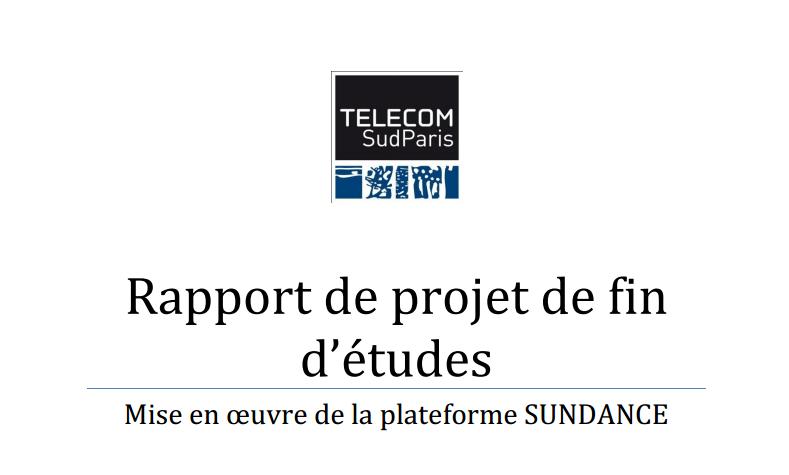 Rapport De Projet De Fin D études Pfe Telecom Sudparis