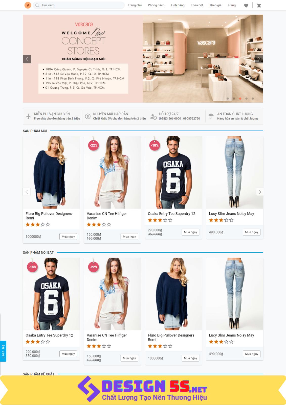 Template blogspot bán quần áo thời trang VSM12