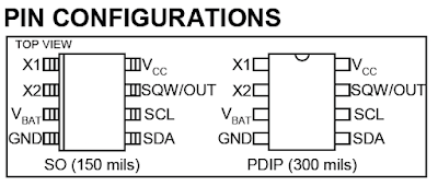 ds1307 real time clock pinout pic18f4550