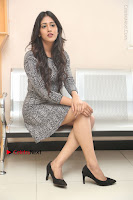 Actress Chandini Chowdary Pos in Short Dress at Howrah Bridge Movie Press Meet  0140.JPG