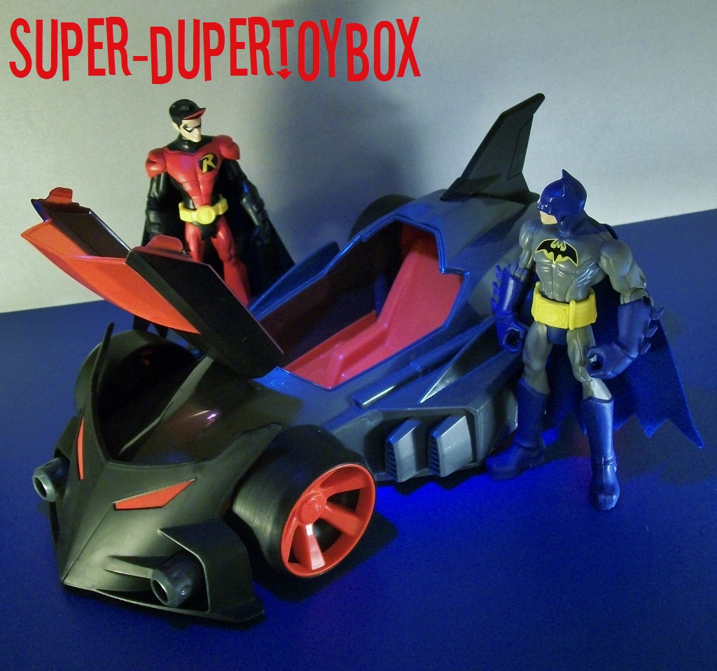 Super Dupertoybox Power Attack Blast Lane Batmobile