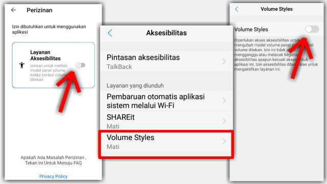Cara mengubah style panel volume di hp android
