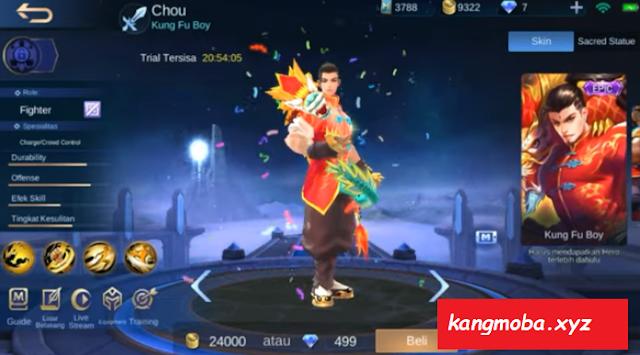 Script Skin Epic Chou Dragon Boy Full Effect Mobile Legends