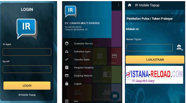 New Release Transaksi Pulsa Via Aplikasi Android Istana Reload