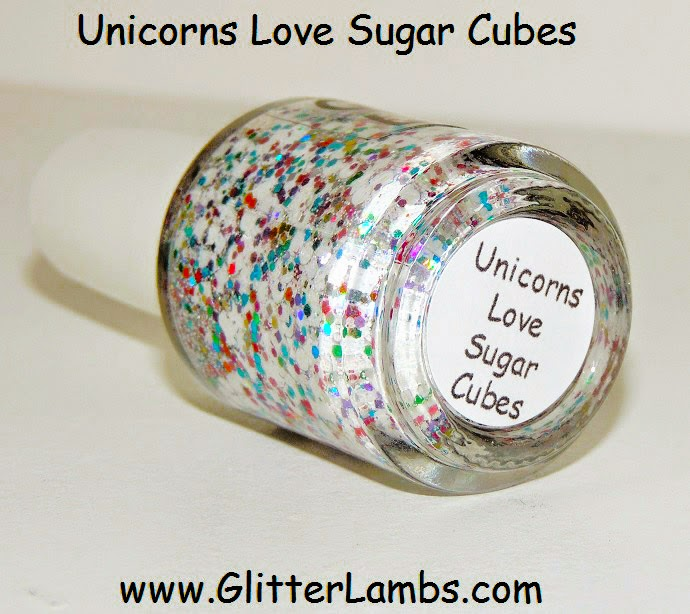 Unicorns Love Sugar Cubes Glitter Lambs Nail Polish