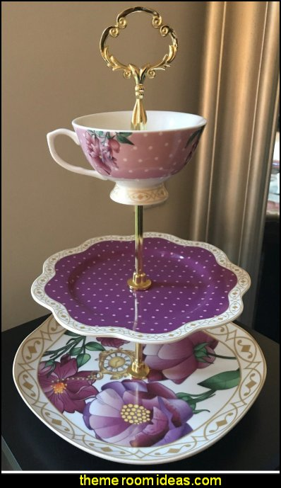 3 Tier High Tea Server  Ava's Magic Garden high tea garden party decorations