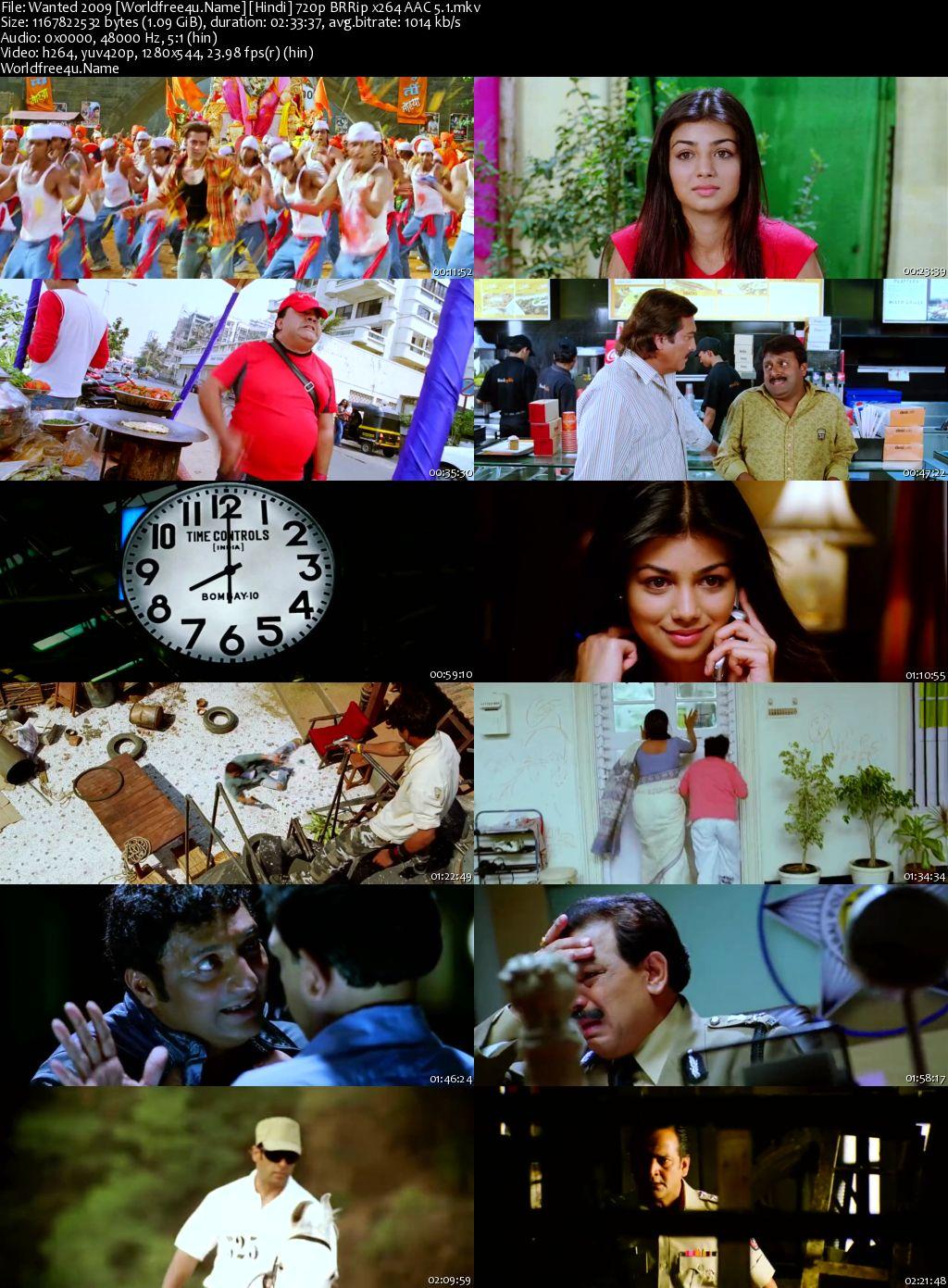 Wanted 2009 Hindi BRRip 720p