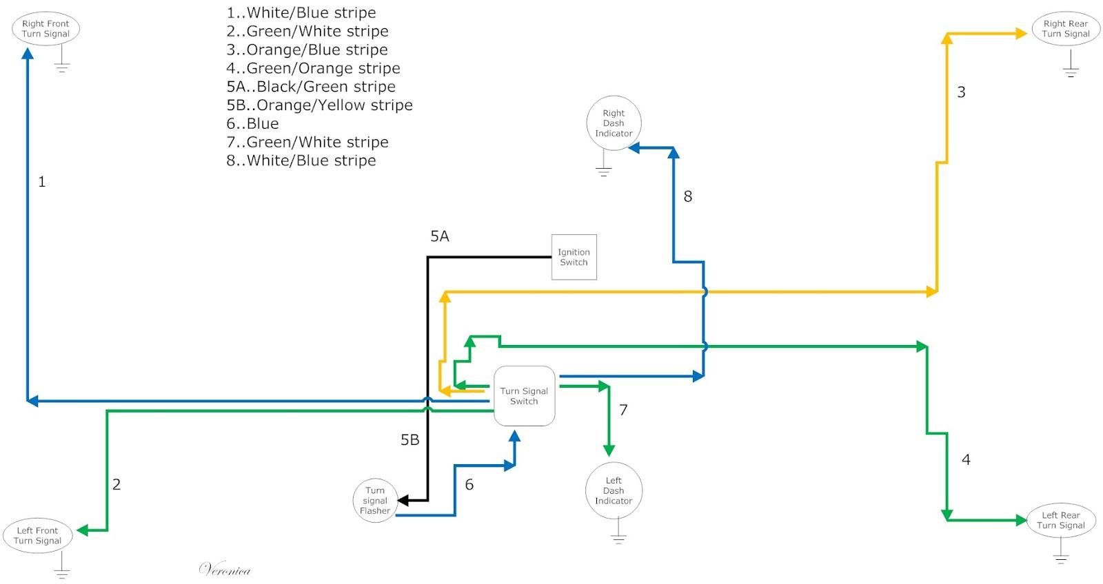 64 corvette tail light wiring diagram