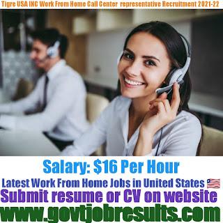 Tigre USA Call Center Representative Part-time jobs in USA 2021-22