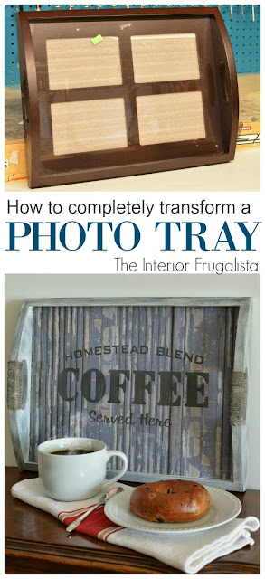 How to transform a photo tray into a Rustic Coffee Server