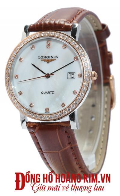 đồng hồ longines nữ dây da cao cấp