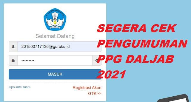 Pengumuman PPG Daljab 2021