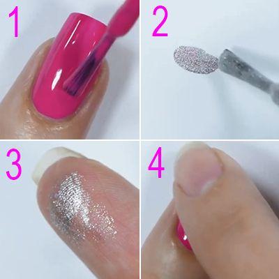truque para as unhas decoradas ficarem mais bonitas e brilhantes