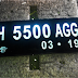 Plat Nomor Motor Acrylic Cembung LED