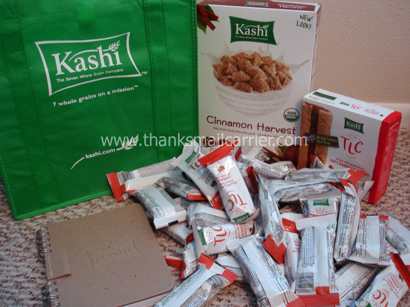 Thanks Mail Carrier Kashi TLC Peanutty Dark Chocolate
