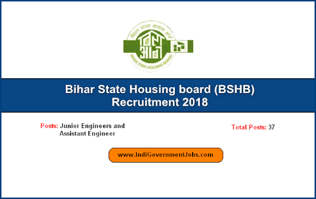 BSHB Recruitment 2018-Junior Engineers and Assistant Engineer posts