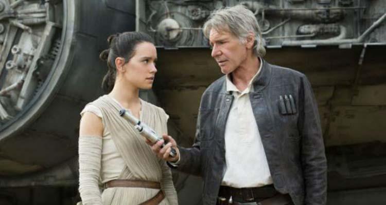 Han Solo  y Rey en El Despertar de la Fuerza