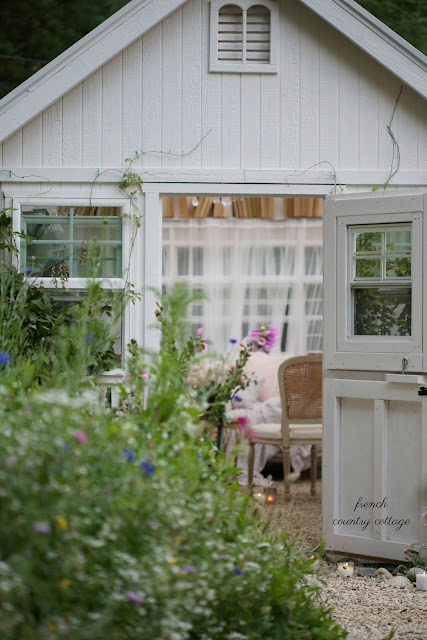 french country cottage she shed