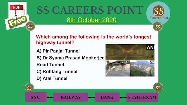 8th October 2020 CURRENT AFFAIRS | Target RRB NTPC SSC GROUP D