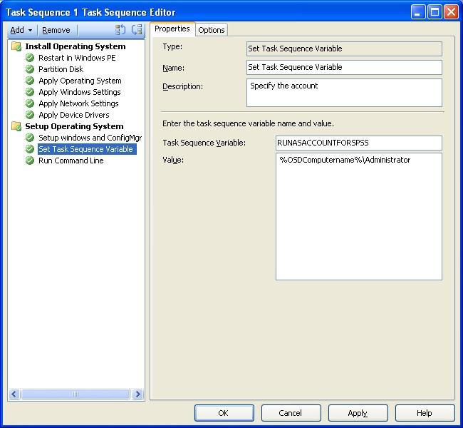 Adventures in Operating System Deployment: RunAs in SCCM 2007 R2