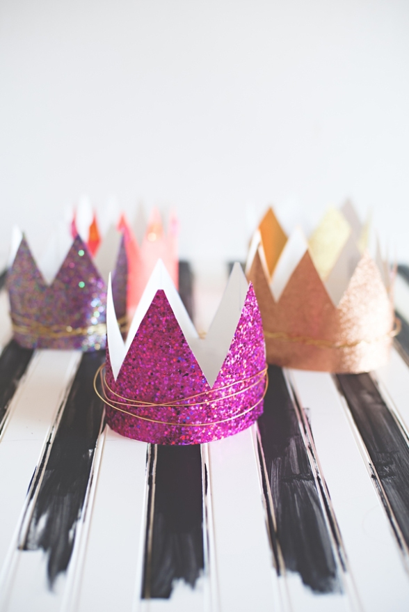 DIY Glitter Crowns | Land of Honey