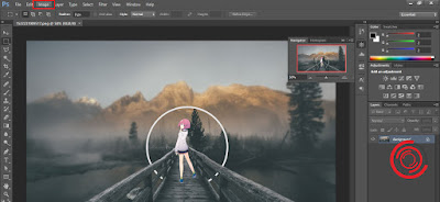 1. Silakan kalian buka aplikasi Photoshop dan buka gambar atau objek yang ingin kalian putar. Setelah itu pilih menu Image
