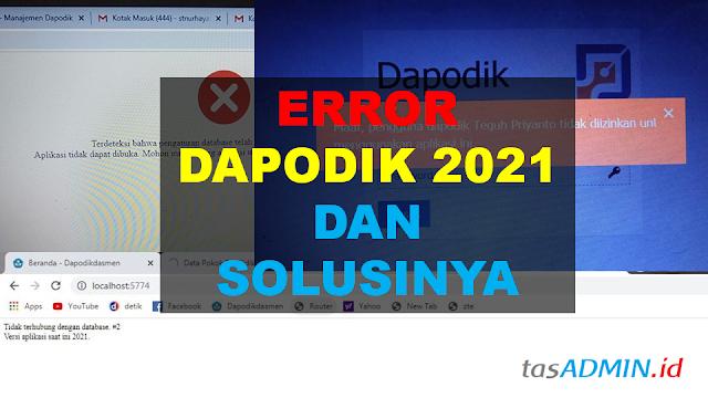 Error dapodik 2021
