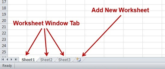 Worksheet Window Tab