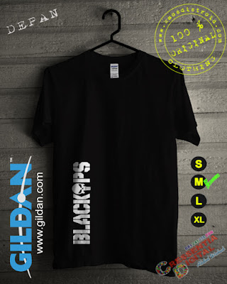 Baju Kaos DISTRO BlackOps Warna HITAM