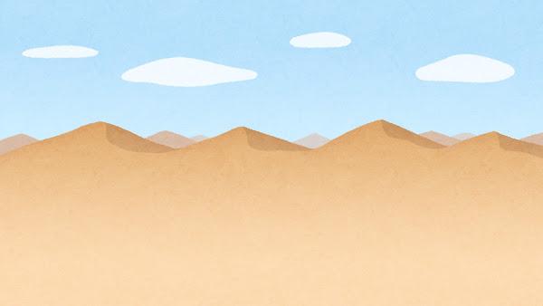 砂漠のイラスト(背景素材)