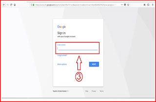 Sign up to your google account or sign in to your account