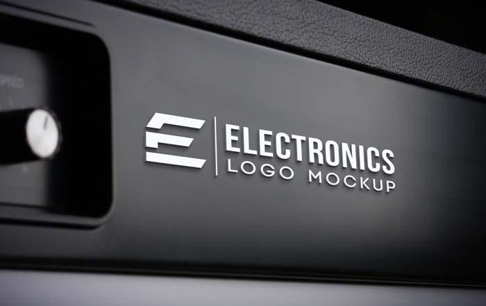 Electronics PSD Logo Mockup