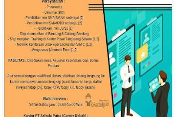 Lowongan Kerja Bandung Karyawan PT Arlinda Putra