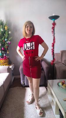 Look vermelho para ano novo