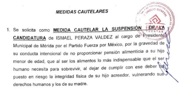 Solicita Morena al IEPAC suspenda la candidatura de Ismael Peraza